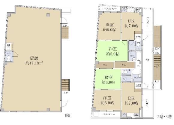 Whole Building Office to Buy in Yokohama-shi Tsurumi-ku Floorplan