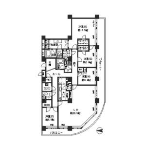 4LDK Mansion in Tsukuda - Chuo-ku Floorplan
