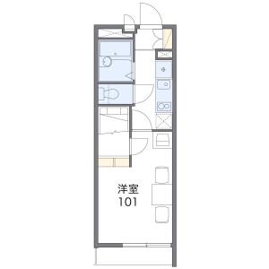 1K Mansion in Kawanishi - Nagoya-shi Moriyama-ku Floorplan