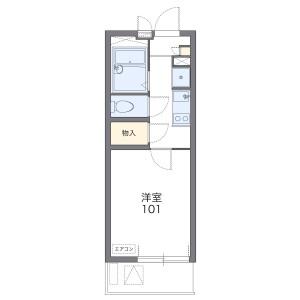 1K Mansion in Shinyamashita - Yokohama-shi Naka-ku Floorplan