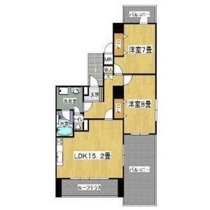 2LDK Mansion in Oyodominami - Osaka-shi Kita-ku Floorplan