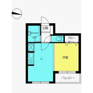 1DK Mansion in Osaki - Shinagawa-ku Floorplan