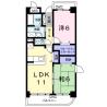 2LDK Apartment to Rent in Hino-shi Floorplan