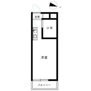 1R {building type} in Izumi - Suginami-ku Floorplan