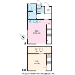 1SLDK Terrace house in Saginuma - Kawasaki-shi Miyamae-ku Floorplan