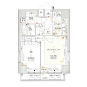 1LDK Apartment in Yotsuya - Shinjuku-ku Floorplan