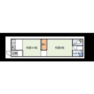2K Mansion in Higashimikuni - Osaka-shi Yodogawa-ku Floorplan