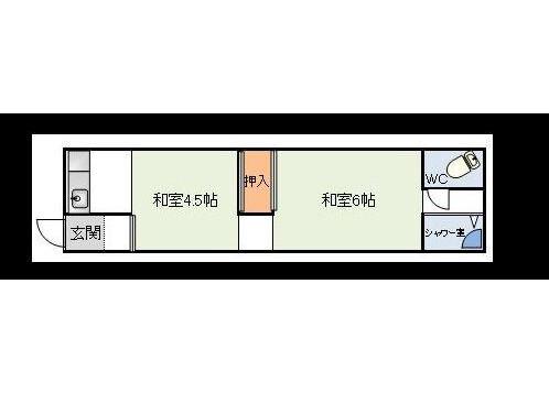 2K Apartment to Rent in Osaka-shi Yodogawa-ku Floorplan
