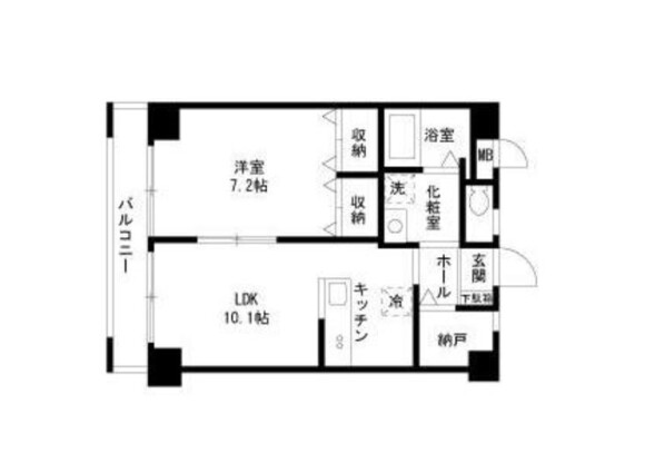 1SLDK Apartment to Rent in Ota-ku Floorplan