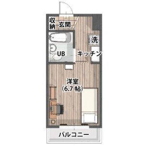 1R Mansion in Nakatehara - Yokohama-shi Kohoku-ku Floorplan