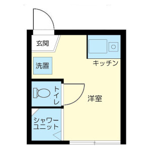 新宿區高田馬場-1R公寓大廈 房間格局