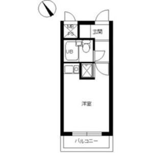 1R Mansion in Ooka - Yokohama-shi Minami-ku Floorplan