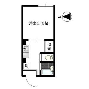 1DK Apartment in Kamiosaki - Shinagawa-ku Floorplan