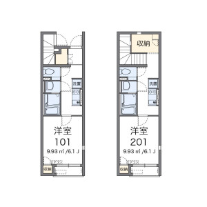 1K Apartment in Ogikubo - Suginami-ku Floorplan