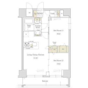 2LDK Mansion in Torigoe - Taito-ku Floorplan