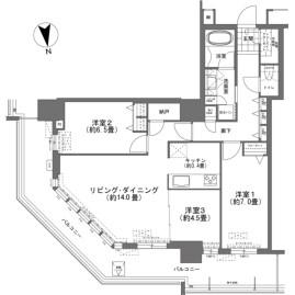 3LDK {building type} in Omoromachi - Naha-shi Floorplan