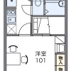 1K Apartment to Rent in Yokohama-shi Midori-ku Floorplan