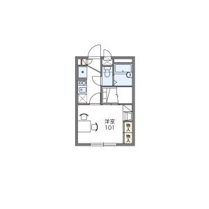 1K Apartment in Higashihongo - Yokohama-shi Midori-ku Floorplan