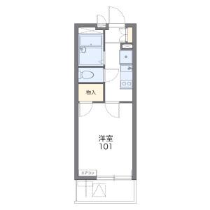1K Apartment in Umeda - Adachi-ku Floorplan