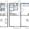 1K Apartment to Rent in Matsudo-shi Floorplan