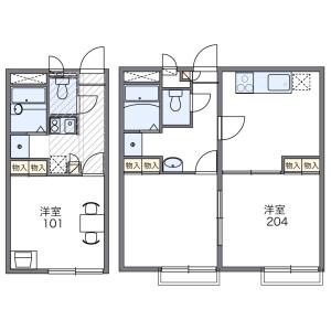1K Apartment in Koganehara - Matsudo-shi Floorplan
