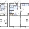 在松戸市内租赁1K 公寓 的 楼层布局