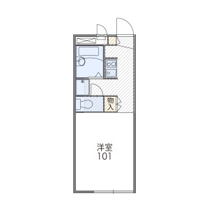 1K Apartment in Sunagawacho - Tachikawa-shi Floorplan