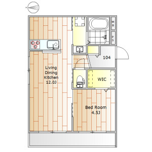 1LDK Mansion in Denenchofu - Ota-ku Floorplan