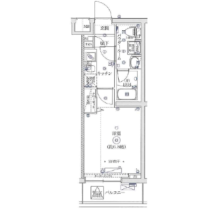 1K Mansion in Ushiodacho - Yokohama-shi Tsurumi-ku Floorplan