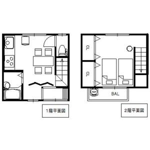 1DK {building type} in Ebisucho minamigumi - Kyoto-shi Higashiyama-ku Floorplan