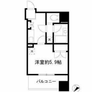 中央区勝どき-1K公寓大厦 楼层布局
