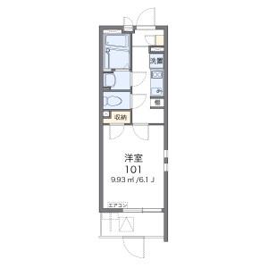 1K Mansion in Torishima - Osaka-shi Konohana-ku Floorplan