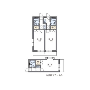 1K Apartment in Kitakase - Kawasaki-shi Saiwai-ku Floorplan