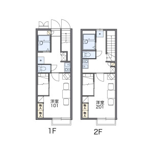 1K Apartment in Kamidaira - Fussa-shi Floorplan