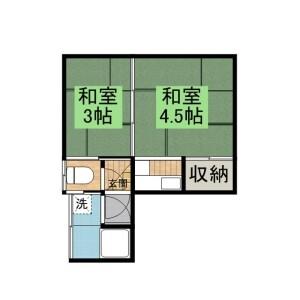 豊岛区上池袋-2K公寓 楼层布局
