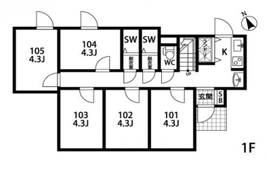 Private Guesthouse to Rent in Arakawa-ku Floorplan