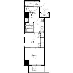 2K Mansion in Iwamotocho - Chiyoda-ku Floorplan