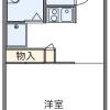 1K Apartment to Rent in Akishima-shi Floorplan
