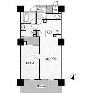 1LDK Apartment in Hiraikecho - Nagoya-shi Nakamura-ku Floorplan