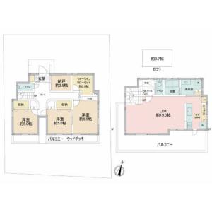 2SLDK {building type} in Nishikoiso - Naka-gun Oiso-machi Floorplan