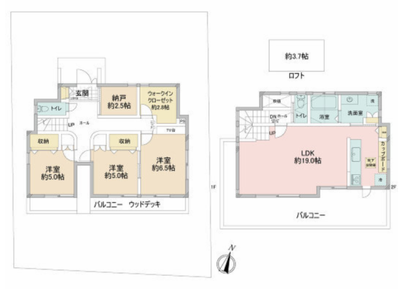 2SLDK House to Buy in Naka-gun Oiso-machi Floorplan