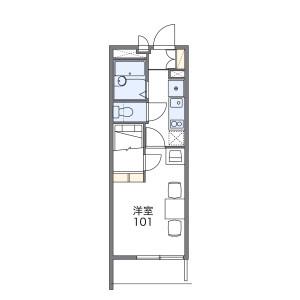 1K Mansion in Biwajima - Nagoya-shi Nishi-ku Floorplan