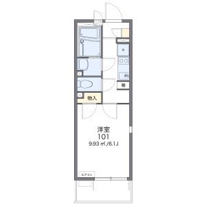 1K Mansion in Uenomachi - Hachioji-shi Floorplan