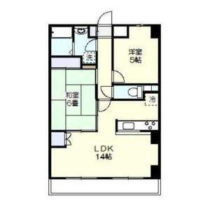 2LDK Mansion in Mizonokuchi - Kawasaki-shi Takatsu-ku Floorplan