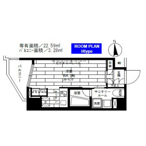 1R Mansion in Kitamagome - Ota-ku Floorplan
