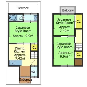 3DK {building type} in Fukakusa kitashimmachi - Kyoto-shi Fushimi-ku Floorplan