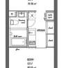 1DK Apartment to Rent in Meguro-ku Floorplan