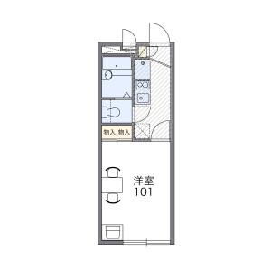名古屋市北區元志賀町-1K公寓 房間格局