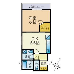 1DK Mansion in Yutakacho - Shinagawa-ku Floorplan