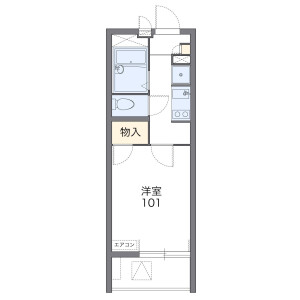 1K Mansion in Tomoe - Chigasaki-shi Floorplan